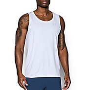 Mens Under Armour Coolswitch Run Singlet V2 Sleeveless & Tank Technical Tops - White L