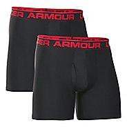 Mens Under Armour Original Series BoxerJock 2 pack Underwear Bottoms - Black/Black 3XL