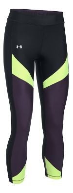 Womens Under Armour HeatGear Color Blocked Crop Tights & Leggings