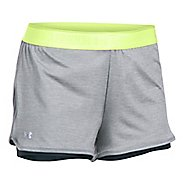 Womens Under Armour Heatgear 2-in-1 Shorty Shorts