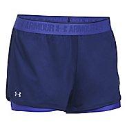 Womens Under Armour Heatgear 2-in-1 Shorty Shorts - Europa Purple XL