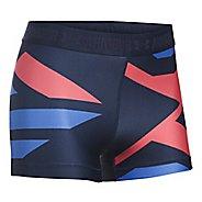 Womens Under Armour Heatgear Engineered Shorty Unlined Shorts - Midnight/Metallic XL