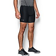 Mens Under Armour 2.0 Compression Boxer Brief Underwear Bottoms - Black/Graphite XS