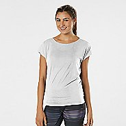Womens Road Runner Sports Over the Top Short Sleeve Technical Tops - White XL