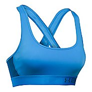 Womens Under Armour Mid Crossback Sports Bras - Water XS