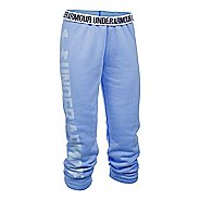 Womens Under Armour Favorite Fleece Capris Pants - Water/White L