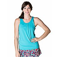 Womens Skirt Sports Free Flow Sleeveless and Tank Technical Tops - Aquamarine L