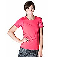 Womens Skirt Sports Free Flow Tee Short Sleeve Technical Tops - Cosmo Pink XXL