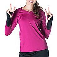 Womens Skirt Sports Free Flow Long Sleeve Technical Tops - Razz XS