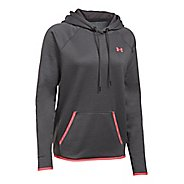 Womens Under Armour Storm Armour Fleece Icon Half-Zips & Hoodies Technical Tops - Carbon/Pink L