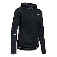 Womens Under Armour Storm Swacket Full-Zip Running Jackets - Black L