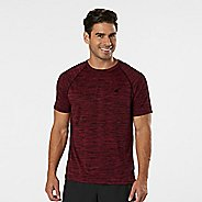 Mens R-Gear Go-To Raglan Short Sleeve Technical Tops - Heather Run Burgundy S