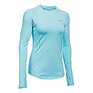 Womens Under Armour ColdGear Armour Crew Long Sleeve Technical Tops - Maui L