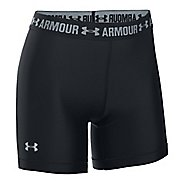 Womens Under Armour HeatGear Middy Compression & Fitted Shorts - Black XS