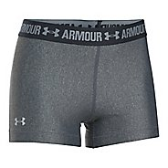 Womens Under Armour HeatGear Shorty Compression & Fitted Shorts - Carbon/Anthracite XL