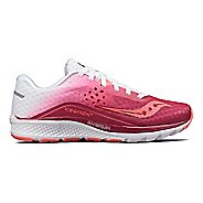 Womens Saucony Kinvara 8 Running Shoe - Berry/White 10