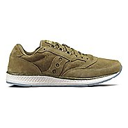 Mens Saucony Freedom Runner Suede Casual Shoe - Green 4.5