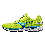 Mens Mizuno Wave Rider 20 Running Shoe - Safety Yellow/Blue 15
