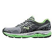 Mens Mizuno Wave Horizon Running Shoe - Grey/Green Gecko 11