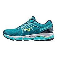 Womens Mizuno Wave Horizon Running Shoe - Teal/Yellow 9.5
