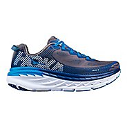 Mens Hoka One One Bondi 5 Running Shoe - Grey/Blue 9.5