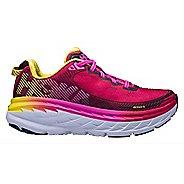 Womens Hoka One One Bondi 5 Running Shoe - Pink/Yellow 5