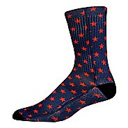 Brooks Pacesetter Victory Crew Socks - Navy/Red M