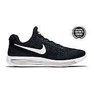 Mens Nike LunarEpic Flyknit 2 Running Shoe - Black/White 9.5