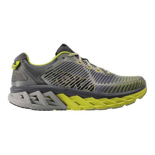 Mens Hoka One One Arahi Running Shoe | Grey/black Hoka One One Running Shoes From Road Runner Sports
