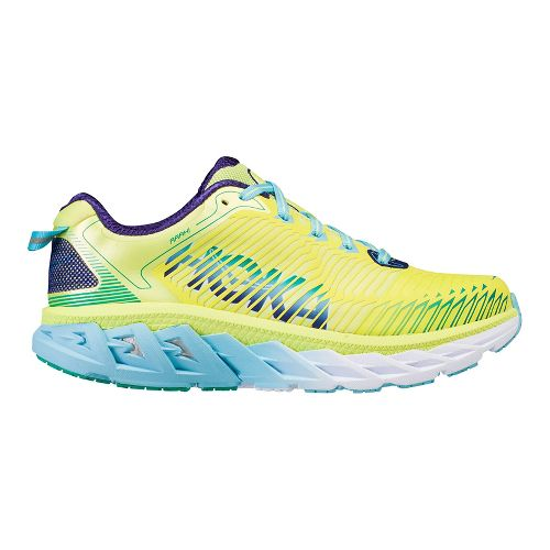 Womens Hoka One One Arahi Running Shoe | Yellow/blue Hoka One One Running Shoes From Road Runner Sports