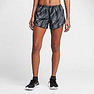 Womens Nike Dry Printed Tempo Lined Shorts - Black XL