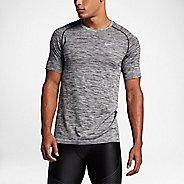 Mens Nike Dri-Fit Knit Short Sleeve Technical Tops - Black/Heather XL