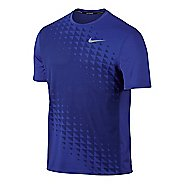 Mens Nike Zonal Cooling Relay GX Short Sleeve Technical Tops - Paramount Blue S