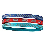 Womens Nike Printed Hazard Strip Headbands 3 pack Headwear - Paramount Blue