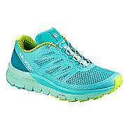 Womens Salomon Sense Pro Max Trail Running Shoe - Blue/Green 5