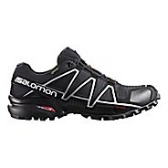 Mens Salomon Speedcross 4 GTX Trail Running Shoe - Black/Silver 10.5