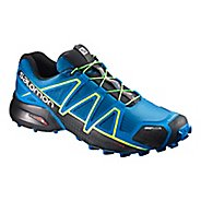 Salomon Mens Speedcross 4 CS Trail Running Shoe - Blue Lime 10