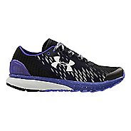 Womens Under Armour Charged Bandit 2 Night Running Shoe - Black/Grape Fusion 8.5