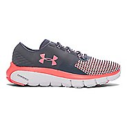Womens Under Armour Speedform Fortis 2 Running Shoe - Stealth Grey/Pink 6