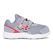 Kids Under Armour Engage BL 3 AC Running Shoe - Steel/Anthem Red 10C