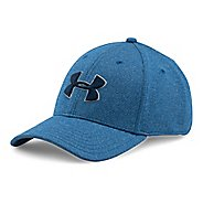 Mens Under Armour Heathered Blitzing Cap Headwear - Heron M/L