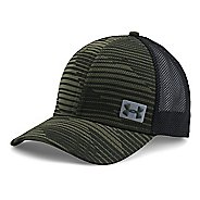 Mens Under Armour Blitzing Trucker Cap Headwear - Artillery Green