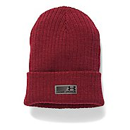 Mens Under Armour Truck Stop Beanie Headwear - Cardinal