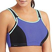 Womens Glamorise Sport Adjustable Wire D/DD/F/G Sports Bra Bras - Purple/Black 46F