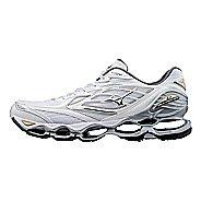 Mens Mizuno Wave Prophecy 6 Running Shoe - White/Gold 8.5