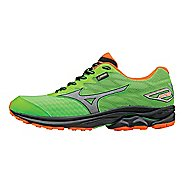 Mens Mizuno Wave Rider 20 GTX Running Shoe - Green Gecko/Orange 7