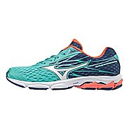 Womens Mizuno Wave Catalyst 2 Running Shoe - Turquoise/Coral 7.5