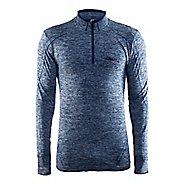 Mens Craft Active Comfort Zip Long Sleeve Technical Tops - Deep Blue XL