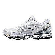 Womens Mizuno Wave Prophecy 6 Running Shoe - White/Gold 6