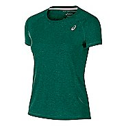 Womens ASICS TM Essential Tee Short Sleeve Technical Tops - Forest XL